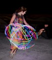 Dancer with a Spinning LED Hula Hoop