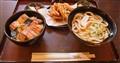 Udon soup, tempura and fish - Japan