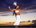 Sunset Hula Dancer