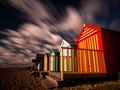 Beach huts in January