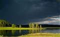 Stormy Lake at Yellowstone August 02, 2011
