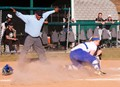Sliding into home the player is called safe!