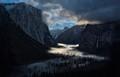 Yosemite Valley lit by Moonlight