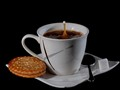 Kaffee,Milch & Keks
