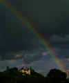 Rainbow over a French castle