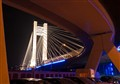 Basarab bridge by night