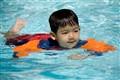 Aidan learns to swim
