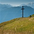 An Iron Cross in Mouverans Alps, Switzerland