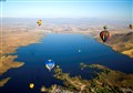 balloons over lake skinner