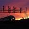 GO Train at Sunset