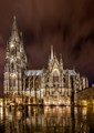 Cologne Cathedral in the rain