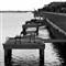 Docks in B&W