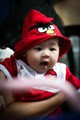 Baby love for Angry Birds