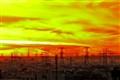 Sunset over Jleeb, Kuwait