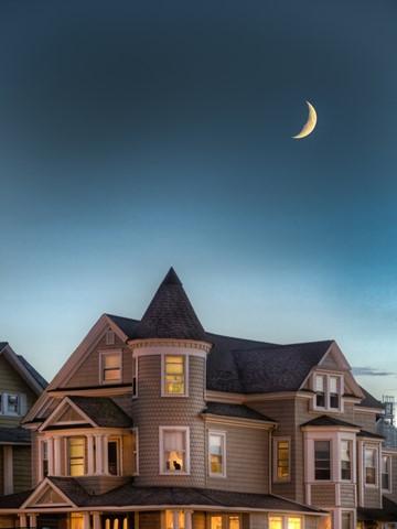 Waxing Victorian Moon