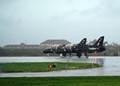RAF Valley - BAE Hawks in a cloudburst