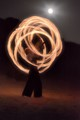 Poi Fire Under Moonlight