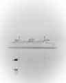 Ferry in the mist