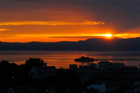 Sunset over Munkholmen