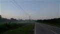 Thin morning mist, Parit Amat Darat, Muar