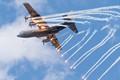 Dutch C-130 popping flares