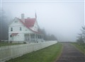 lightkeepers house in fog -Hecata light (1 of 1)