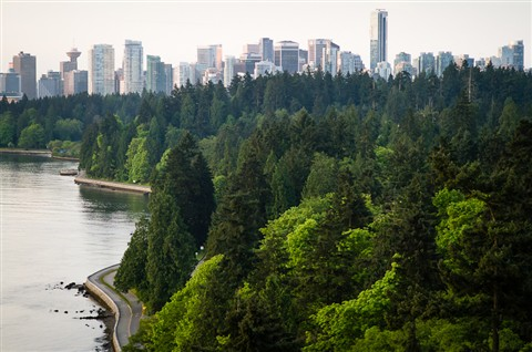 Downtown Vancouver from the Lion's Gate Bridge