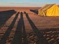 Early Morning Shadows in the Sahara Desert
