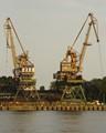 Old Harbour Cranes at Swinoujscie Poland