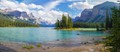 This island on Maligne lake in Jasper is only accessible by boat.  We took the last time and were treated by nice light.