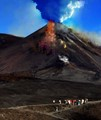 This morning, in front of the amazed tourists, the Etna Volcano suddenly ERAPTED !