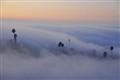 Hills of fog