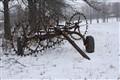 hayrake rusting away