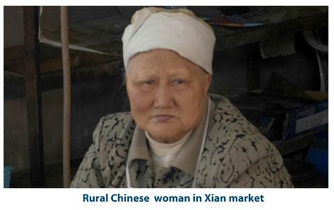 Rural Chinese woman in Xian Market2