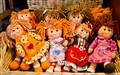 Smiling Dolls in Moena, Italy