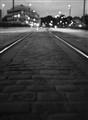 Light Rails at Night