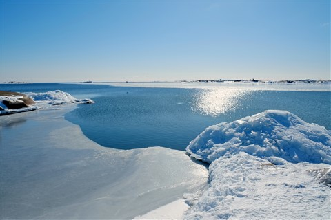 A Small island close to Hanko harbor - a walk on ice