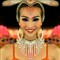 Symmetrical cabaret dancer
