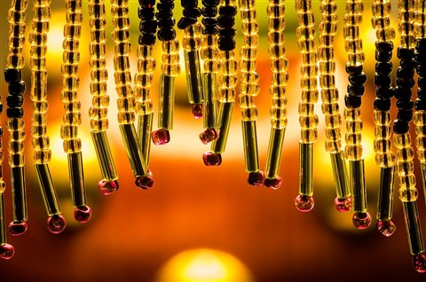 lamp glass beaded fringe