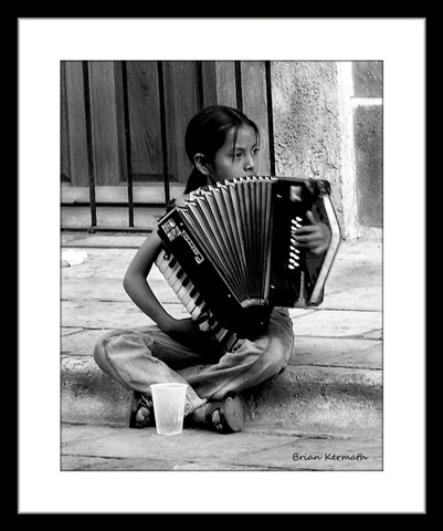 Child Street Accordion Player Oaxaca Mexico Ehdesigns