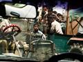 Indian traffic crowd