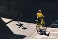 Yellow biker