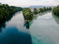 Rhone River (two R's!), La Jonction, Geneva, Switzerland
