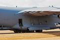 Airman at the door of Boeing C-17 Globemaster III