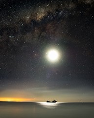 Ship Moon and Stars