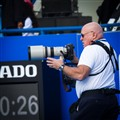 Sports photographer in action!