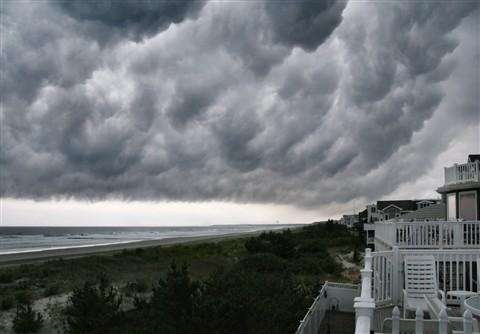 Tropical Storm Danny moving through Sea Isle City NJ - 2