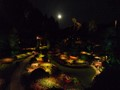 Butchart Gardens under the full moon
