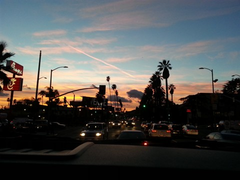 Hollywood sunset