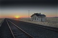Namibian Rail tracks at sunset1 1024ppi